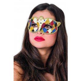 Venetiaans masker wyber, zwart/rood/blauw/goud