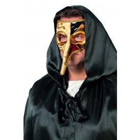 Venetiaanse masker lange neus, witte neus