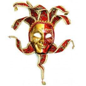 Venetiaans masker hangend, oranje