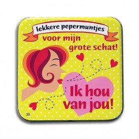 Pocket Tin - ik hou van jou