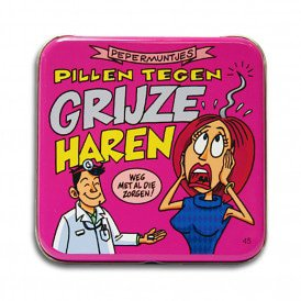 Pocket Tin - grijze haren