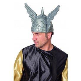 Helm Viking met vleugels zilver