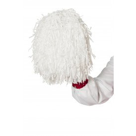 Cheerleader pompom, wit