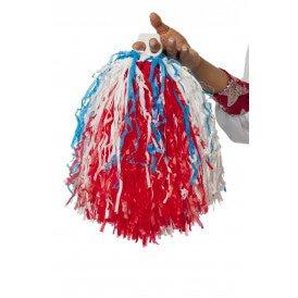 Cheerleader pompom, rood/wit/blauw