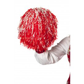 Cheerleader pompom, rood/wit