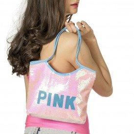 Tas pailletten pink
