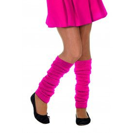 Beenwarmers uni, neon-pink