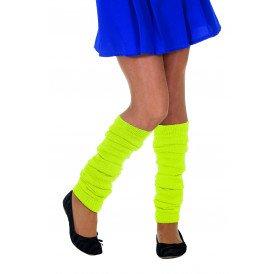 Beenwarmers uni, neon-geel