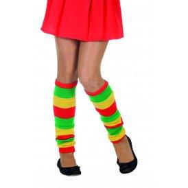 Beenwarmers uni, rood/geel/groen