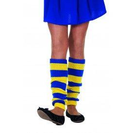 Beenwarmers uni, blauw/geel