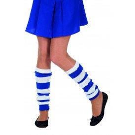 Beenwarmers uni, blauw/wit