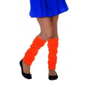 Beenwarmers uni, neon-oranje