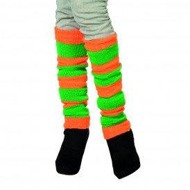 Beenwarmers uni, oranje/groen