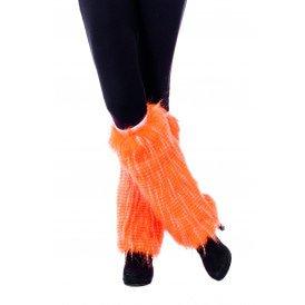 Beenwarmers pluche , neon-oranje