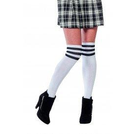 Cheerleader sokken, wit/zwart