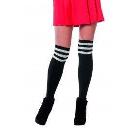 Cheerleader sokken, zwart/wit