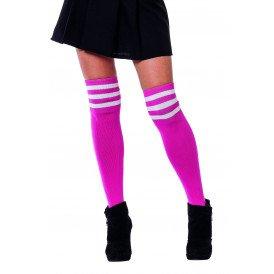 Cheerleader sokken, pink/wit