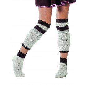 Tiroler sokken + beenwarmers, beige