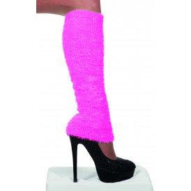 Beenwarmers pluche, neon-pink