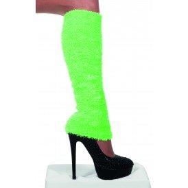 Beenwarmers pluche, neon-groen