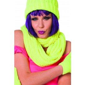 Sjaal rond, neon-geel