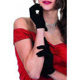 Gala handschoen satijn 20cm, zwart