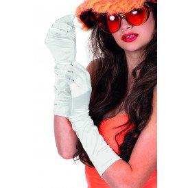 Gala handschoenen satijn 40cm, wit