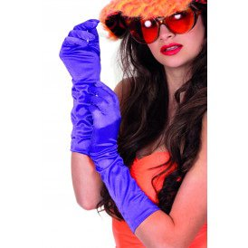 Gala handschoenen satijn 40cm, paars