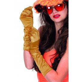Gala handschoenen satijn 40cm, goud