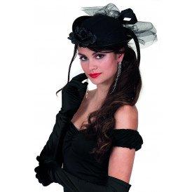 Gala handschoenen satijn 60cm , zwart