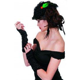 Gala handschoenen prinses-model, zwart