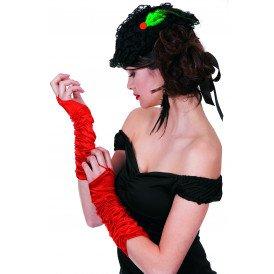 Gala handschoenen prinses-model, rood