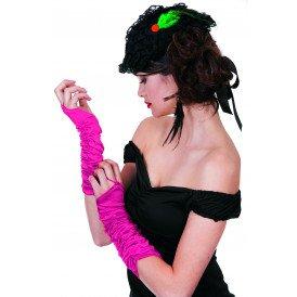 Gala handschoenen prinses-model, neon-pink