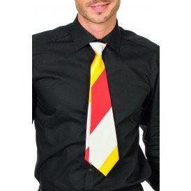 Stropdas, rood/wit/geel