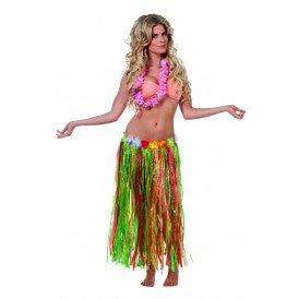 Hawaii rok (80cm) multi+bloemen