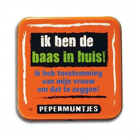 Pocket Tin - baas in huis