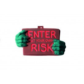 Plastic deco 'enter at your own risk'