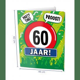 60 jaar window sign