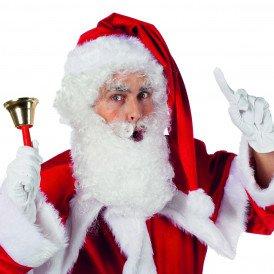 Kerstbaard en pruik, wit
