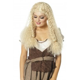 Pruik middeleeuwen, blond
