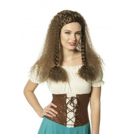 Pruik middeleeuwen, bruin