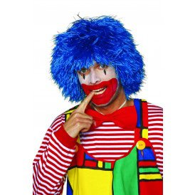 Clownspruik, blauw