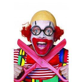 Clown met glatze, rood