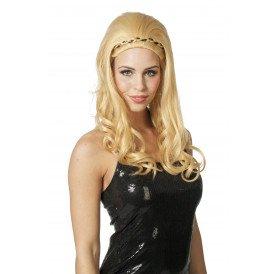 Pruik Afrodite, blond
