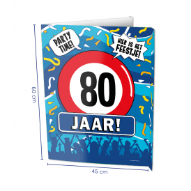 80 jaar window sign