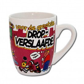 Cartoonmok Drop verslaafde