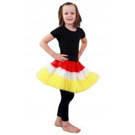 Petticoat rood/wit/geel 3-laags meisjes one size