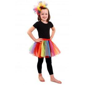 Tule rokje regenboog meisjes one size