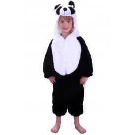 Panda kostuum zwart / wit pluche