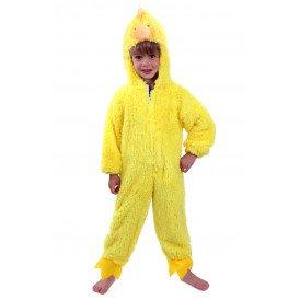 Kip kostuum geel pluche kinderen